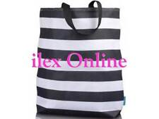 ST. TROPEZ STYLISH BLACK & WHITE CANVAS BEACH / SHOPPING / TOTE BAG