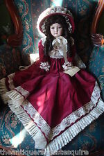"Nicole by Lady Anne Victorian doll, Halbig face, 24"" doll, all porcelain[a*4]"