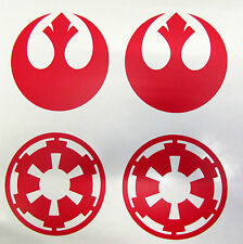 Star Wars Galactic Empire - Rebel Alliance - Vinyl Decal Red Wall Car Sticker