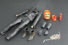 Custom 1/6 Ghost Rider Costume with Lighting Head Sculpt For Hot Toys Body