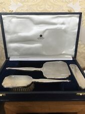 Hallmarked Silver Asprey London Vanity,grooming,dressing, Brushes & Mirror Set