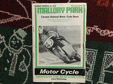 1970 MALLORY PARK PROGRAMME 29/3/70 - SIGNED BY JOHN COOPER - CARRERAS NATIONAL