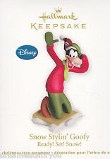 Hallmark 2012 Snow Styling Goofy Ready Set Snow Ornament