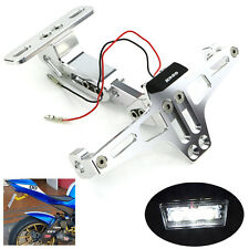 CNC Fender Eliminator LED Rear Light For YAMAHA YZF R6 2003 2004 2005 Silver