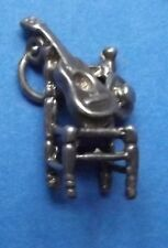 VINTAGE CHAIR WITH GUITAR AND HAT STERLING SILVER CHARM