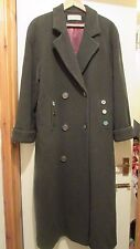 AMAZING ** DE KEYSER LONDON BOUTIQUE** KHAKI WOOL & CASHMERE WINTER COAT SIZE 12