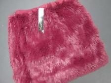PETTICOAT ALLEY WOMENS BURGUNDY FAUX FUR STRETCH FASHION MINI SKIRT SMALL NWT