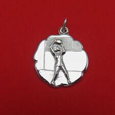 Vintage JMF Sterling Silver Bracelet Charm Volleyball Net Pendant 600g