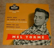MEL TORME walkin' shoes*hooray for love 1957 UK DECCA MONO TRI-CENTRE PS EP