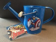 Marvel Captain America Unique Retro Metal Watering Can Blue New with tags NWT #