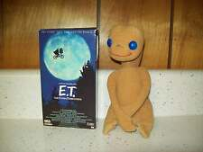 Showtime ET Extra Terrestrial Plastic Eyes Plush Stuffed Animal 1982 + VHS Movie