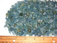 Aquamarine deep blue all natural crystal mixed grade Zambia 3-12mm 1/2 ounce