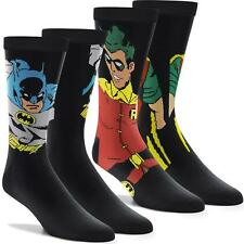AUTHENTIC BATMAN ROBIN DC COMICS SOCKS action figure 2 Pack  Men Superhero