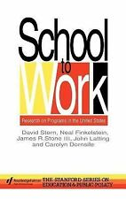 School To Work: Research On Programs In The United States (Studies in Mathematic