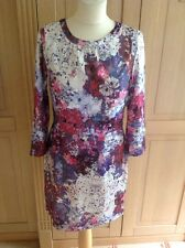 LOVELY H&M FLORAL PRINT DRESS UK SIZE 12 BARELY WORN GOOD CONDITION