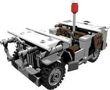 CUSTOM building INSTRUCTION - WILLYS JEEP ambulance to build out of LEGO® parts