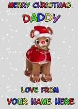Rudolph Christmas Daddy from Child Card PIDS11 Greeting Card Personalised