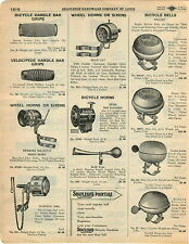 1929 AD Bicycle Wheel Horns Sirens Bell American Flag Design Seiss Wild Cat