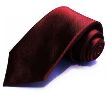 7 Fold 100% Silk Necktie ❤ Dark Red Tie ❤ Seven Folds ties a perfect Big Knot
