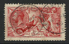 SG 401 5/- Carmine Red N66(3) 1913 Waterlow Seahorse in VFU dated CDS cancel.