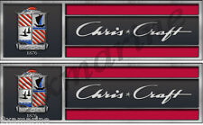 Chris Craft Hull Tags Replica in Vinyl