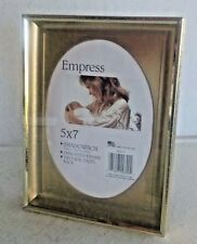 "Empress Shadowbox Gold-tone Metal Prop Stand Frame, Hold 5"" x 7"" Oval Picture"