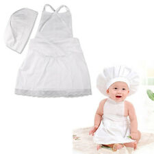 Baby Toddler Chef Cook Role Play Costume Outfit with Hat Fancy Dress