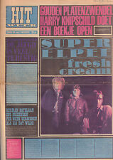HITWEEK 1967 nr. 18 - DUTCH MAGAZINE WITH A.O. CREAM/GOLDEN EARRINGS