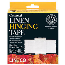 "Lineco Gummed Linen Hinging Tape 1.00"" X 30' Very Strong! # L533-1025 (bin2130)"