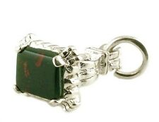 ARGENTO Sterling & Bloodstone seal fob Charm