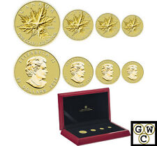 2014 'Gold Maple Leaf' 4-Coin Set .9999 Fine (NT) (13308)