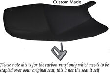 Fibra De Carbono Vinilo Custom encaja Suzuki Gs 500 01-09 Doble Vinilo cubierta de asiento
