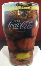 Coca Cola Glass or Mug Tin Collectible About 9 Inches tall