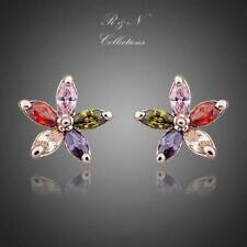 Multicolour Wintersweet 18K Rose GP Made W/ SWAROVSKI Crystal Earrings E264-18