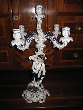 PMP Plaue Schierholz Leuchter Plaue Porzellan Figur kobalt  Kerzenleuchter 57 cm