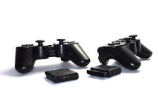 2X New PS2 Black Wireless Shock Game Controller for Sony Playstation 2 NEW