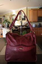 TAHARI RED LEATHER CONVERTIBLE BAG PURSE (purse 500)