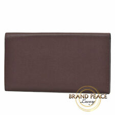 Hermes MC2 Fleming two fold notecase wallet Eva grain dark brown Q stamped