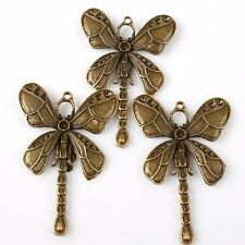 5pcs 144704 Hotsale Bronze Tone Dragonfly Charms Alloy Jeweley Pendants