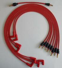 Small Block Chevy V8 55-74 265-400 RED Spark Plug Wires under Exhaust-Points Cap