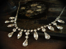Vintage Pear Shaped Crystal Drop Necklace