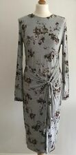 NEW  M&S LOVELY GREY PRINT JERSEY DRESS SIZE 12 EUR 40 BEST OF BRITISH