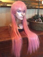 New Passion Pink Straight Long  Cosplay Party Wig Costume Anime #119