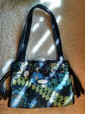 Spartina 449 Daufuskie Island Floral Linen & Leather Drawstring Shoulder Bag