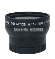 Durable 55mm 0.45X Fisheye Wide Angle Macro Conversion Lens For Canon Nikon Sony