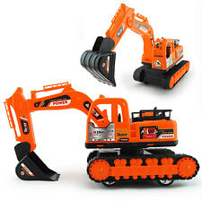 Kids Excavator Track Digger Construction Diecast Model Vehicle Tractor Toy  XN