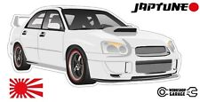 Subaru WRX Impreza   - White with Black Rims - JDM - JapTune Brand