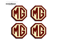 Mg TF lega ruota centro CAP badge Borgogna & Cream 45mm di HUB BADGE 4 Pack
