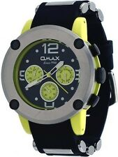 Omax PA09L22Y Men's Watch Yellow Tone Bullet Resin Band Multi-Function