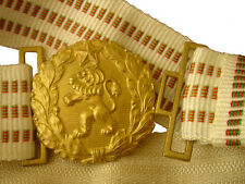 EARLY BULGARIAN OFFICER PARADE BELT FOR DAGGER GLOVES LOT BUCKLE COMMUNIST ARMY